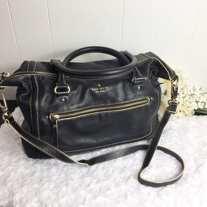 Kate Spade Soft Black Leather Satchel Bag